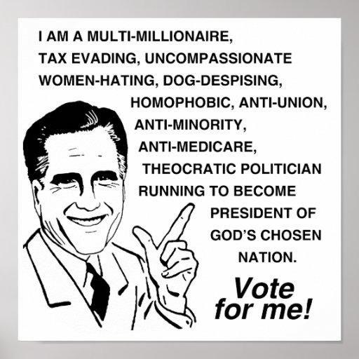 I AM A MULTI-MILLIONAIRE SO VOTE FOR ME PRINT