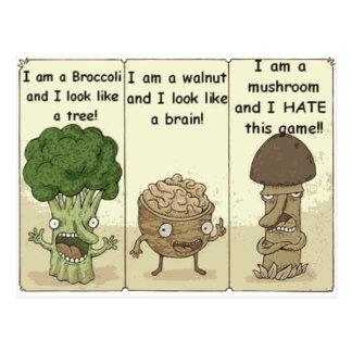 I am a mushroom postcard