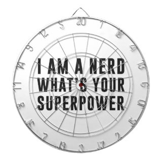 I am a nerd. What's your superpower? Dart Board