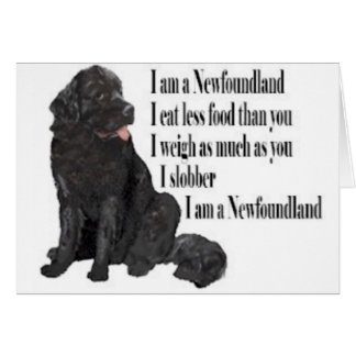 I am a Newfoundland Card