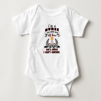I am a nurse I was born with a Heart Baby Bodysuit