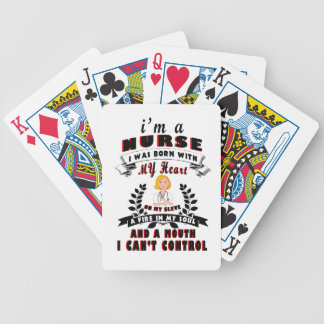 I am a nurse I was born with a Heart Bicycle Playing Cards