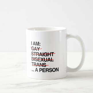 I AM A PERSON COFFEE MUG
