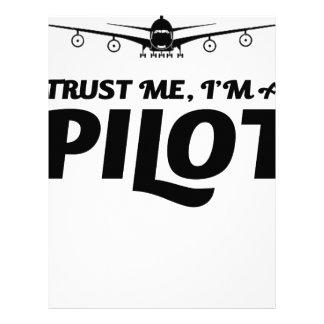 I am a Pilot Letterhead