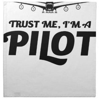 I am a Pilot Napkin