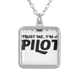 I am a Pilot Silver Plated Necklace