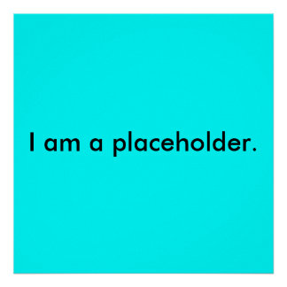 I am a placeholder. poster