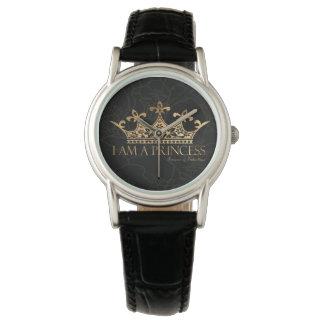 I Am A Princess w/Crown  Women's Classic Leather Watch