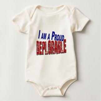 I Am A Proud DEPLORABLE Baby Bodysuit