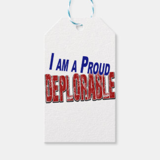 I Am A Proud DEPLORABLE Gift Tags