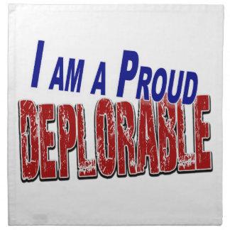 I Am A Proud DEPLORABLE Napkin
