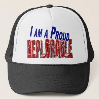 I Am A Proud DEPLORABLE Trucker Hat
