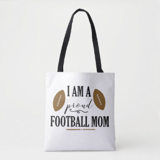 I am a Proud Football Mom Tote Bag