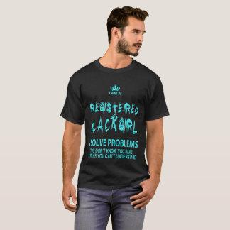 I Am A Registered Black Girl I Solve Problems - Ts T-Shirt