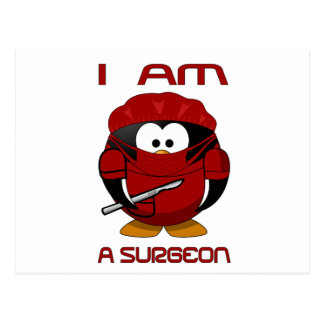 I am a Surgeon - Red Postcard