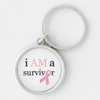 i AM a survivor (Pink) Keychain