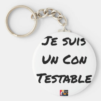 I am a Testable IDIOT - Word games Keychain