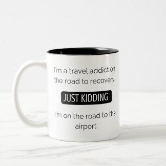 I am a travel addict 325 ml  Mug