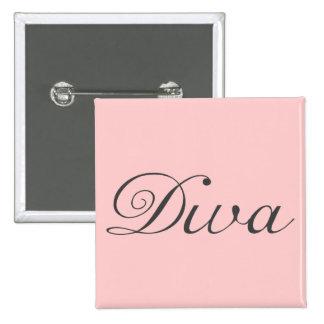 I am a true diva 2 inch square button