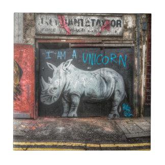 I Am A Unicorn, Shoreditch Graffiti (London) Tile