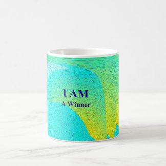 """""""I AM A WINNER"""" White 11 oz Classic White Mug"""