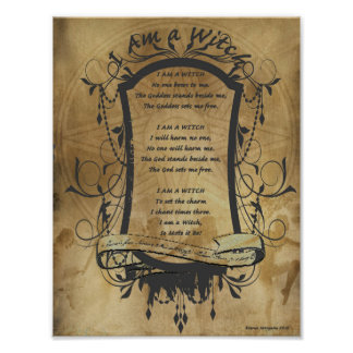 I AM a WITCH CHANT Poster