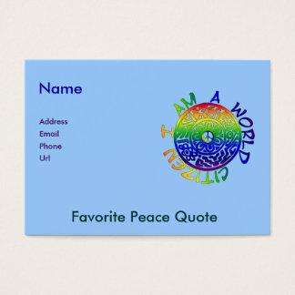I Am A World Citizen Business Card