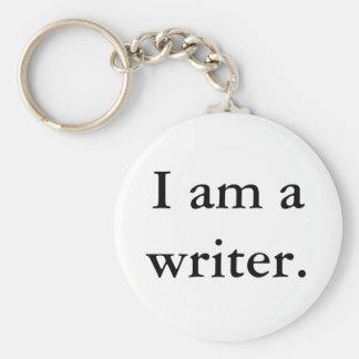 I am a writer keychain
