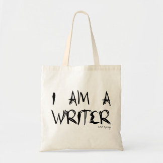 I AM A WRITER tote