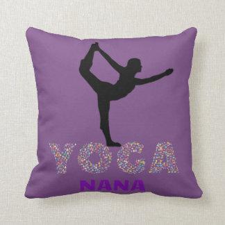 I AM A YOGA NANA * Throw Pillow