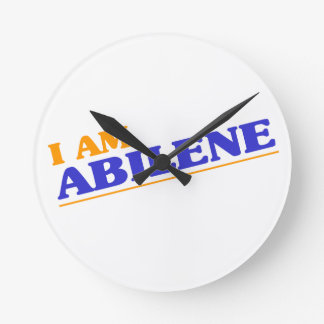 I am Abilene Round Clock