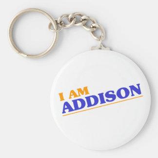 I am Addison Keychain
