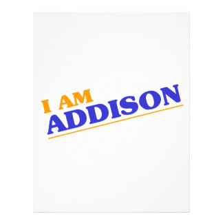 I am Addison Letterhead