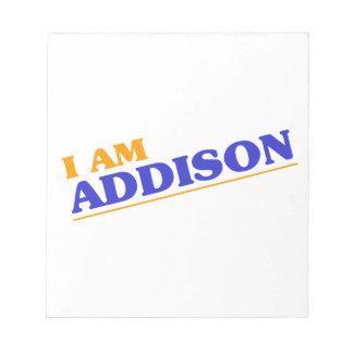 I am Addison Notepads