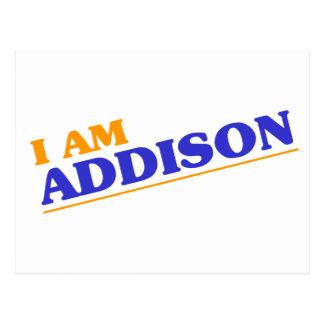 I am Addison Postcard