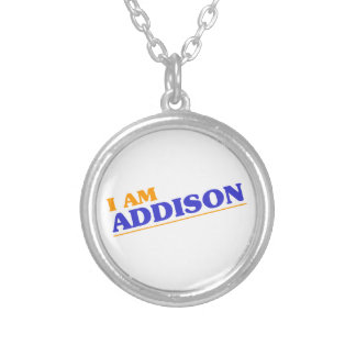 I am Addison Silver Plated Necklace