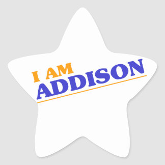 I am Addison Star Sticker