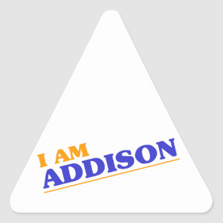 I am Addison Triangle Sticker