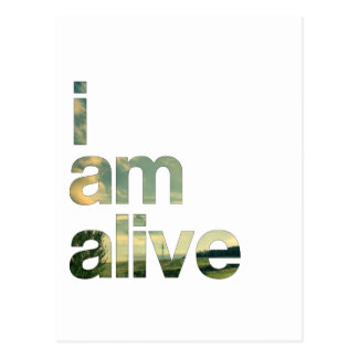 i am alive postcard