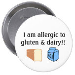 I am allergic to gluten and dairy buttons