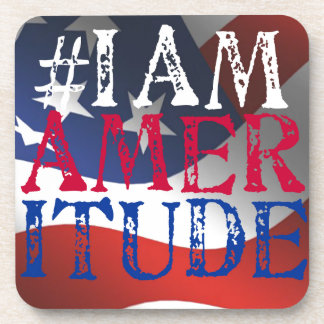 I Am Ameritude Gear Coasters