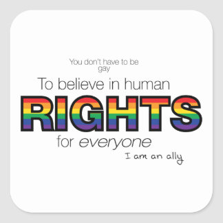 I am an ally square sticker
