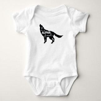 I am an Alpha Female Wolf Girl Baby Bodysuit