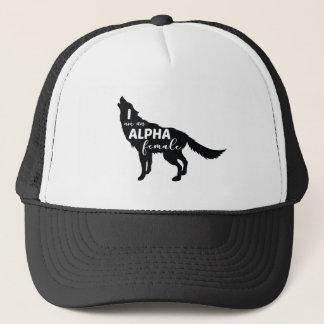 I am an Alpha Female Wolf Girl Trucker Hat