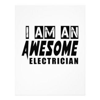 I am an Awesome ELECTRICIAN. Letterhead Design