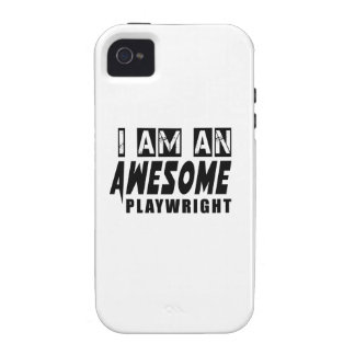 I AM AN AWESOME PLAYWRIGHT iPhone 4 COVER