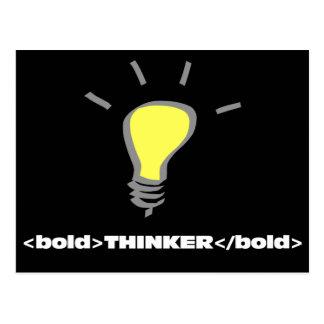 I am an innovative bold thinker 2 postcard