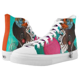 I AM ART Hi Top Denim Sneakers
