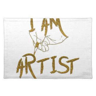 I am artist placemat