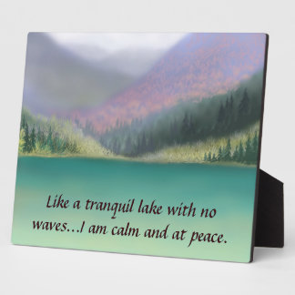 I am at Peace Plaque